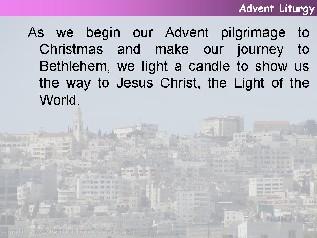 Ideas for advent sunday year a for Idea door journey to bethlehem
