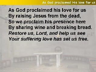 As God proclaimed his love for us