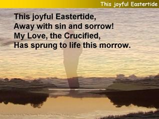 This joyful Eastertide away with sin