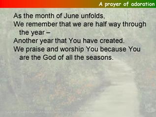 The prayer of adoration from all included for june