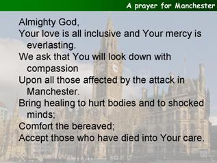 A prayer following the tragedy in Manchester
