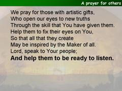 A prayer for others