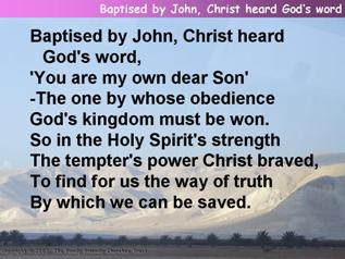 Baptised by John, Christ heard God's word